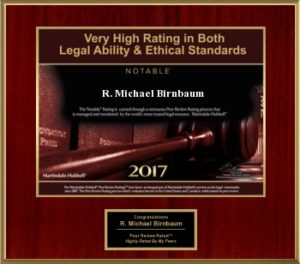 Michael Birnbaum awarded the Martindale-Hubbell Award 2017